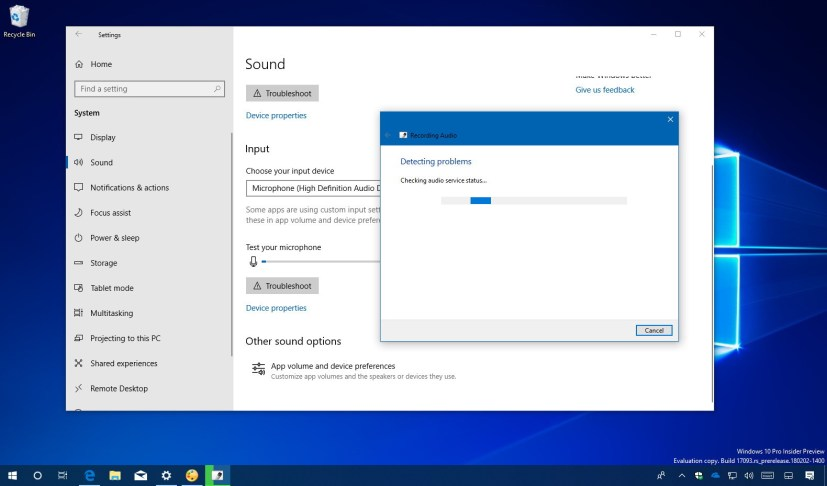 Fix microphone problem on Windows 10