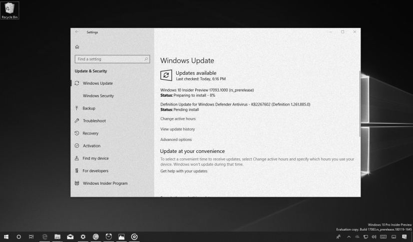 Windows 10 build 17093 in this Weekly Digest