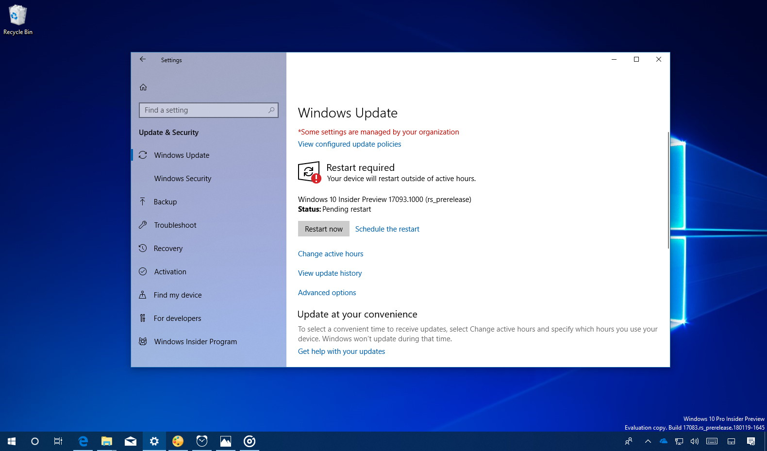 Windows 10 build 17093