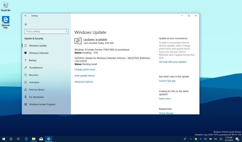 Windows 10 build 17604