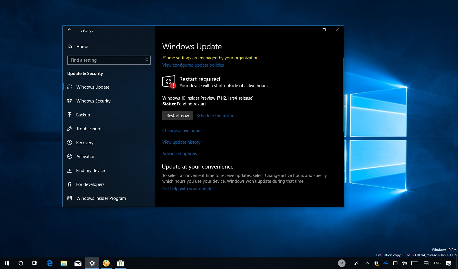 Windows 10 build 17112