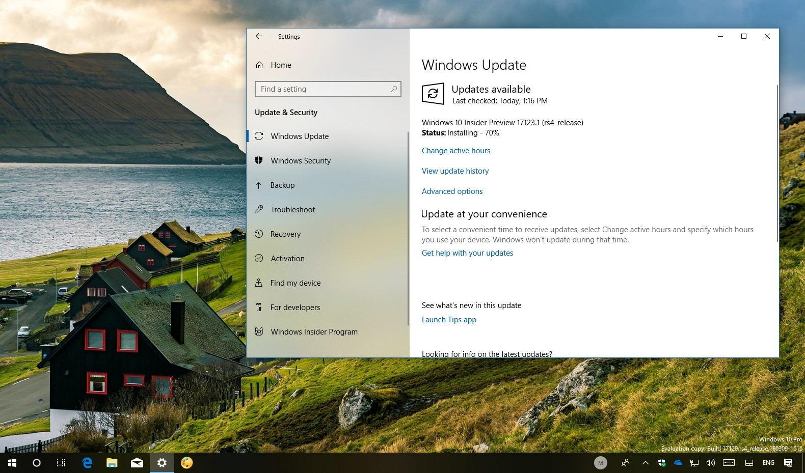 Windows 10 build 17123