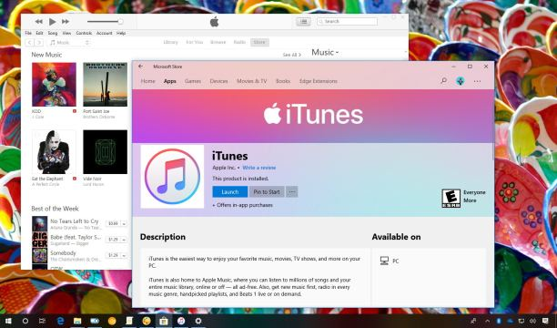 iTunes app for Windows 10 finally arrives to the Microsoft Store