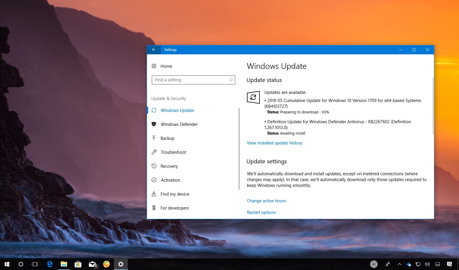KB4103727 update for Windows 10