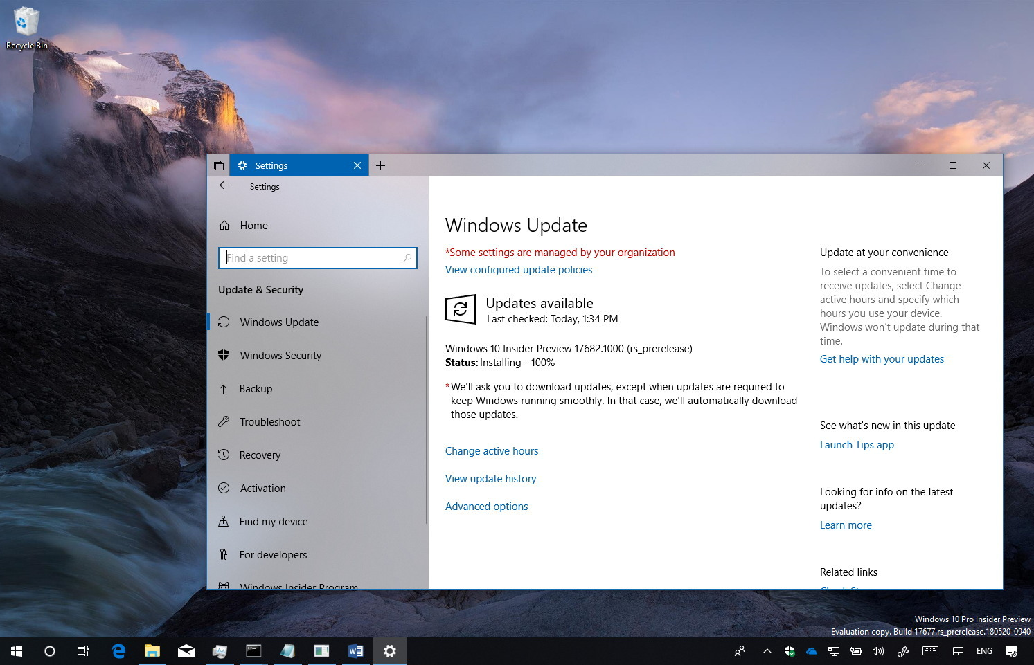 Windows 10 build 17682