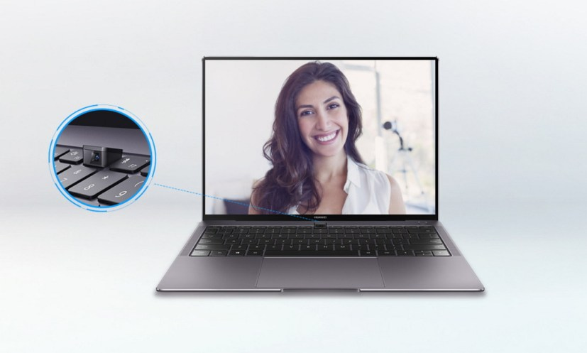 Huawei MateBook X Pro pop-up camera