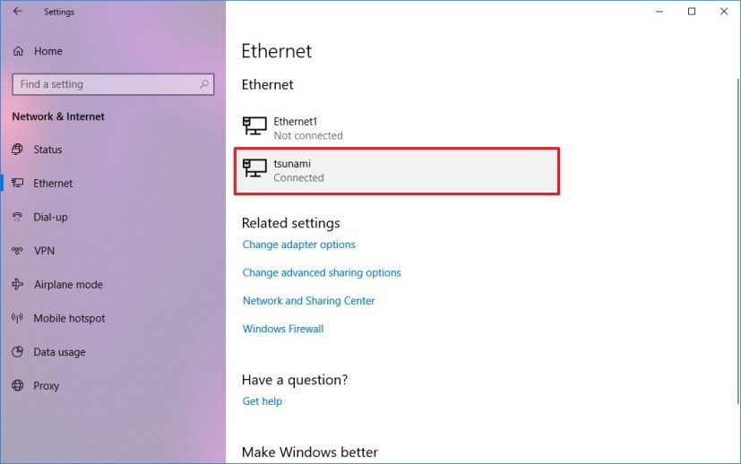 how to change network adapter settings in windows 10