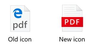 Microsoft Edge new PDF icon