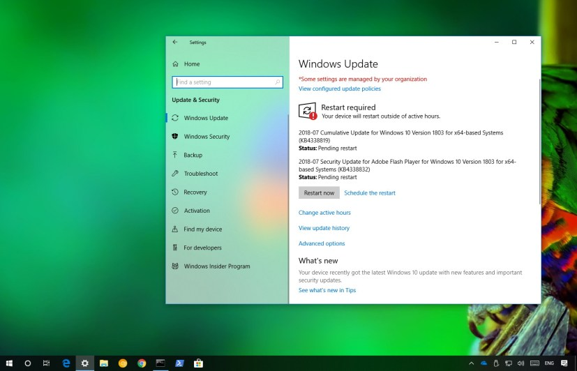 Windows 10 update KB4338819