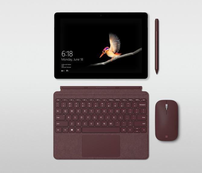 Surface Go Type Cover, Pen, and Mouse