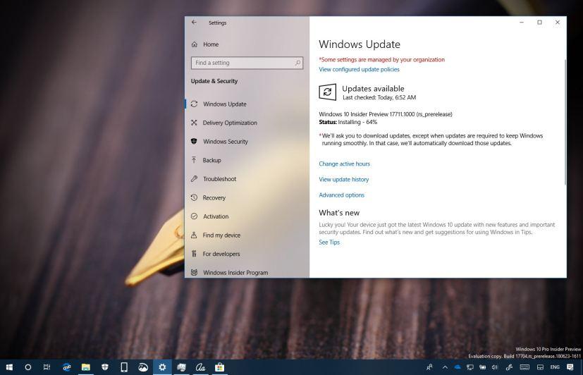 Windows 10 build 17711 update