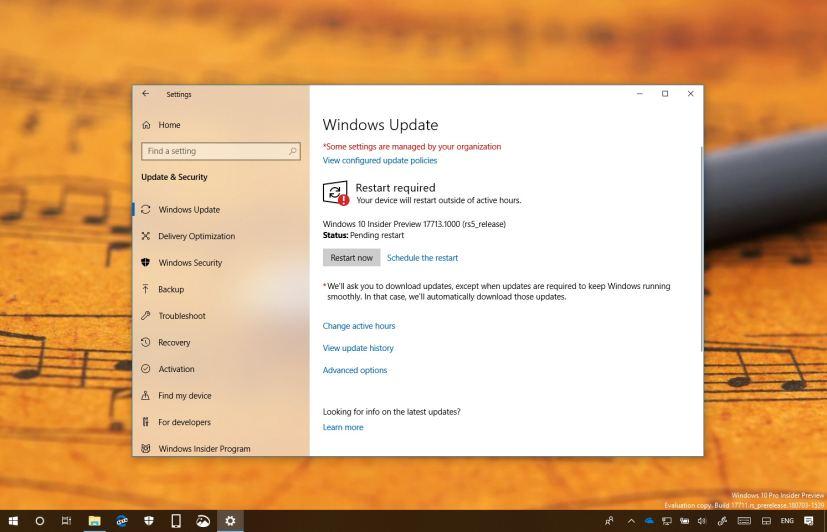 Windows 10 build 17713