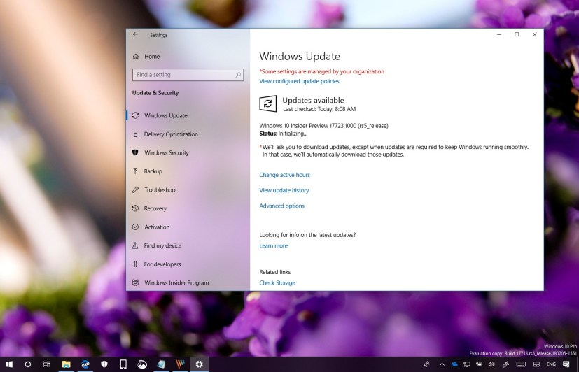 Windows 10 build 17723