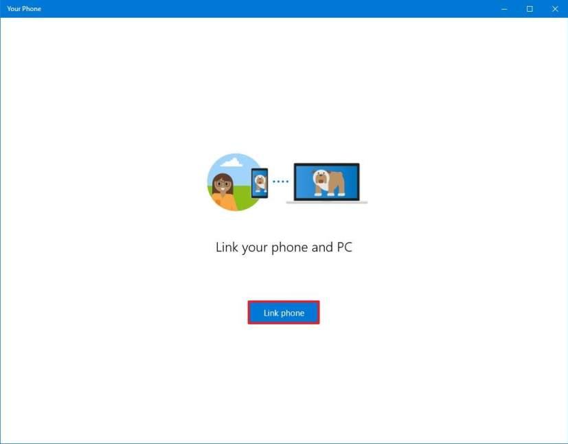 Link phone option
