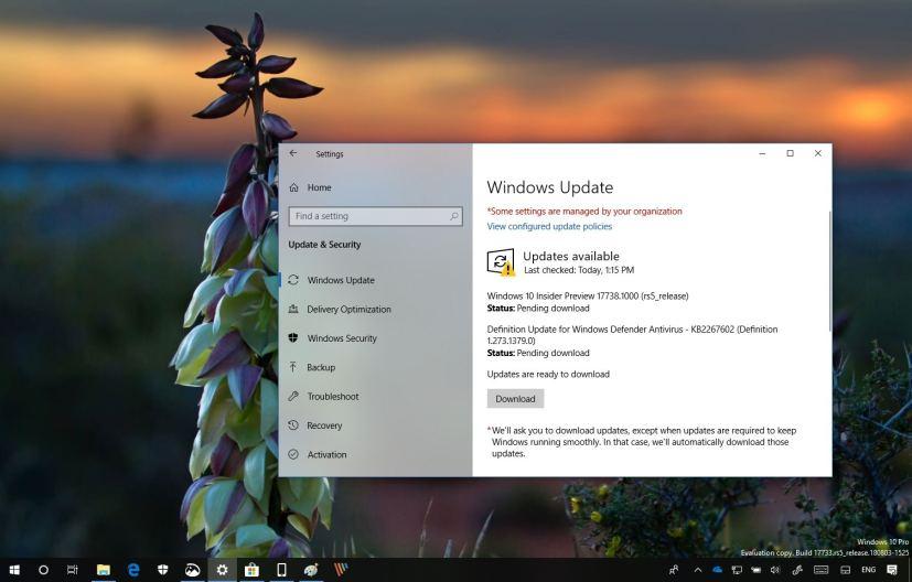 Windows 10 build 17738 download