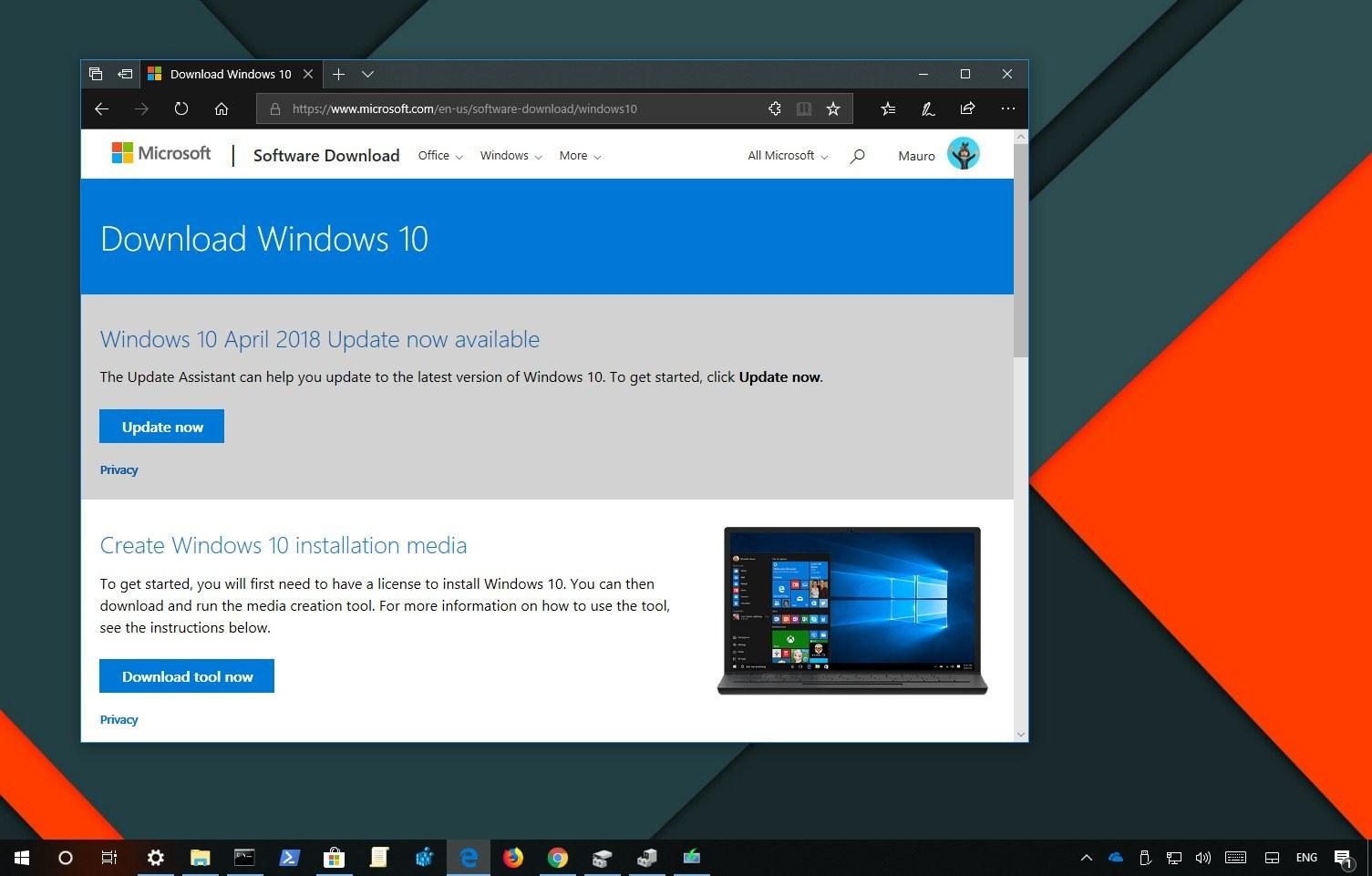 Windows 10 version 1803 (April 2018 Update) ISO download