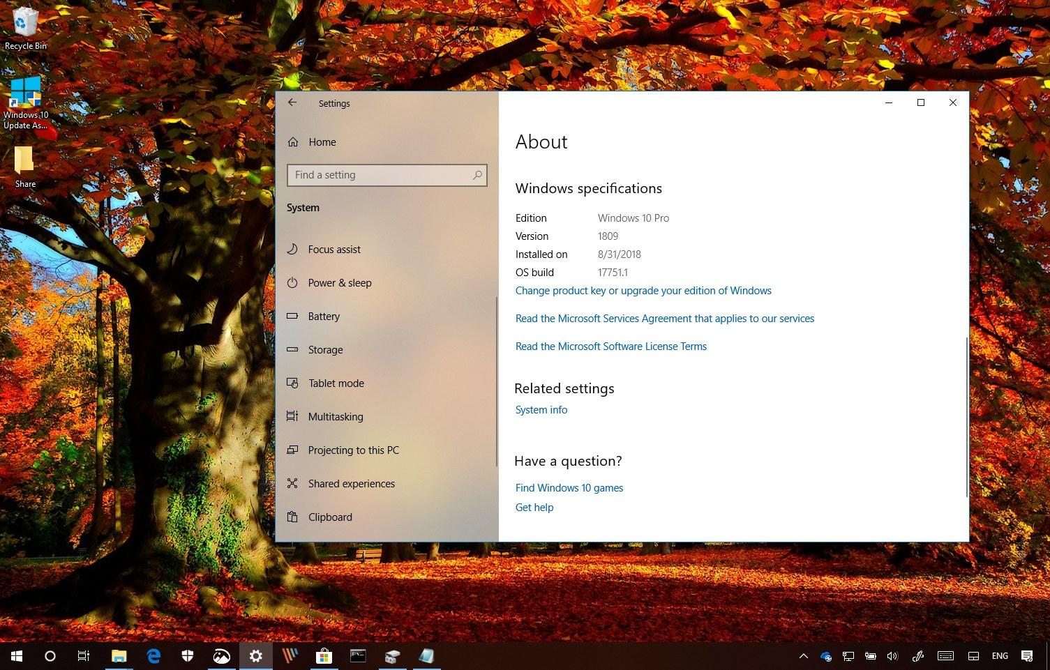 Windows 10 October 2018 Update (version 1809) release date