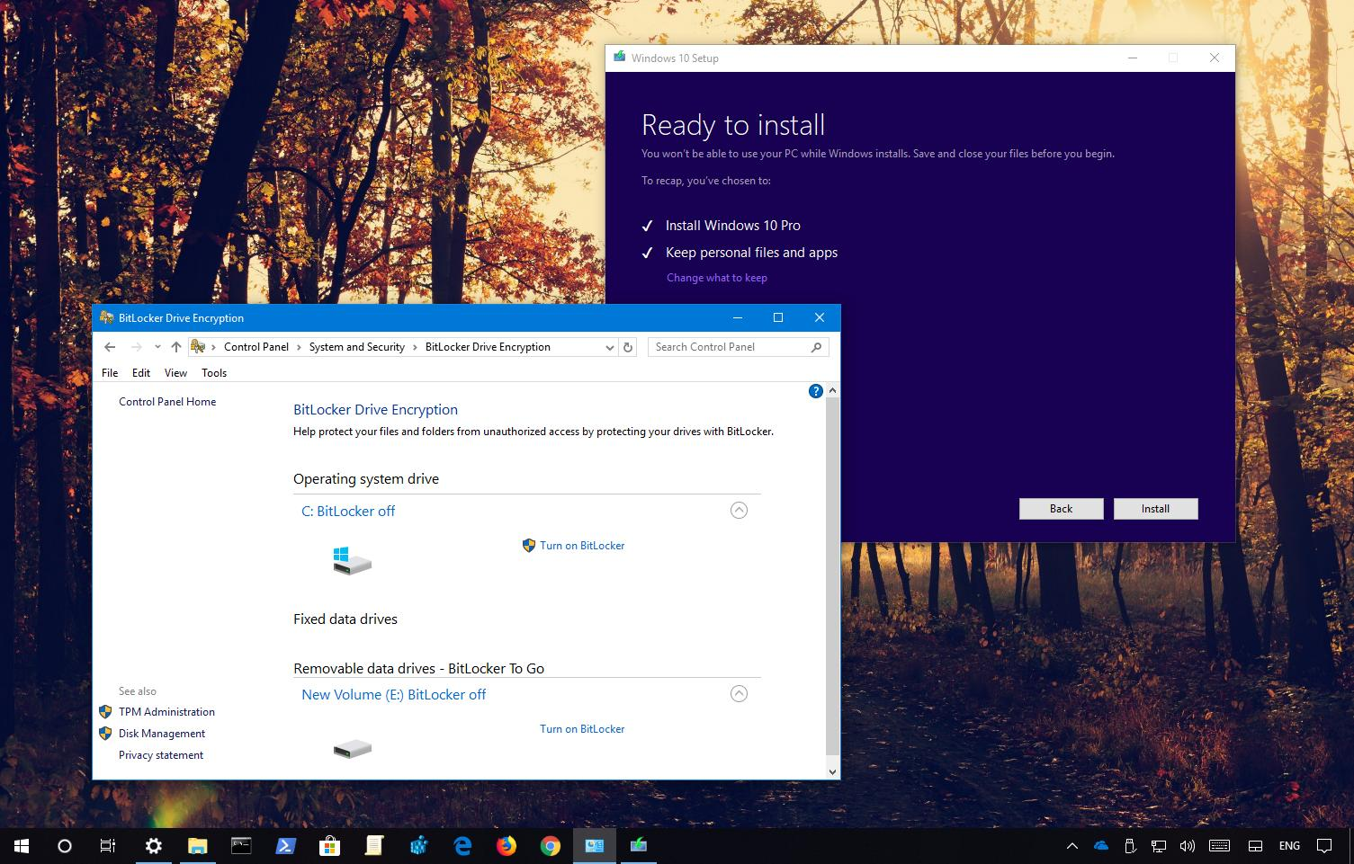 How to upgrade Windows 10 when BitLocker is enabled • Pureinfotech