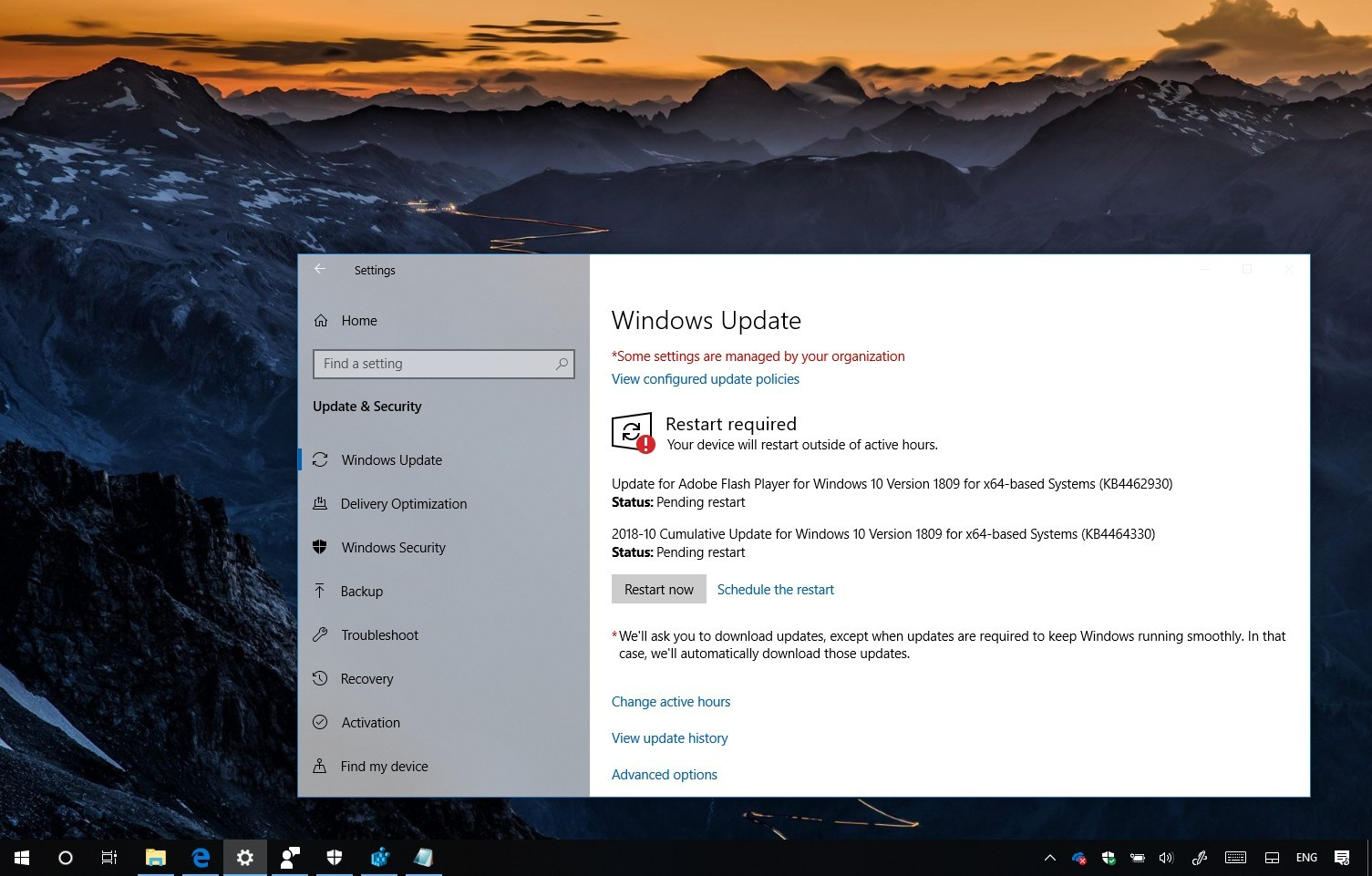 KB4464330 update for Windows 10 version 1809