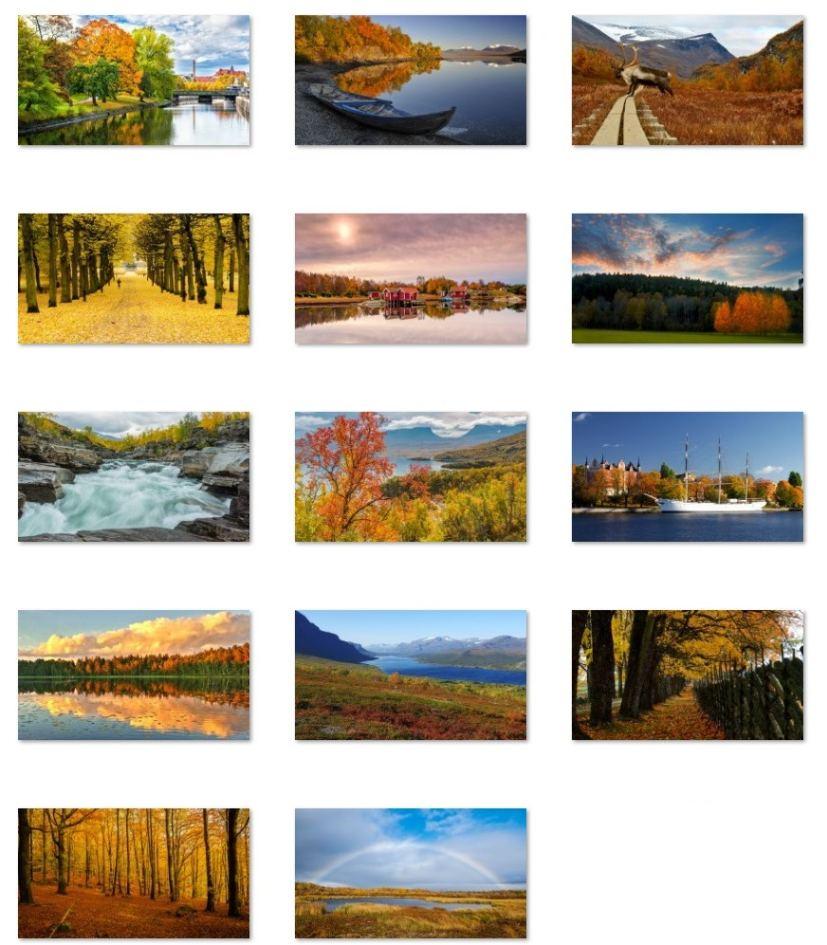 Autumn in Sweden wallpapers