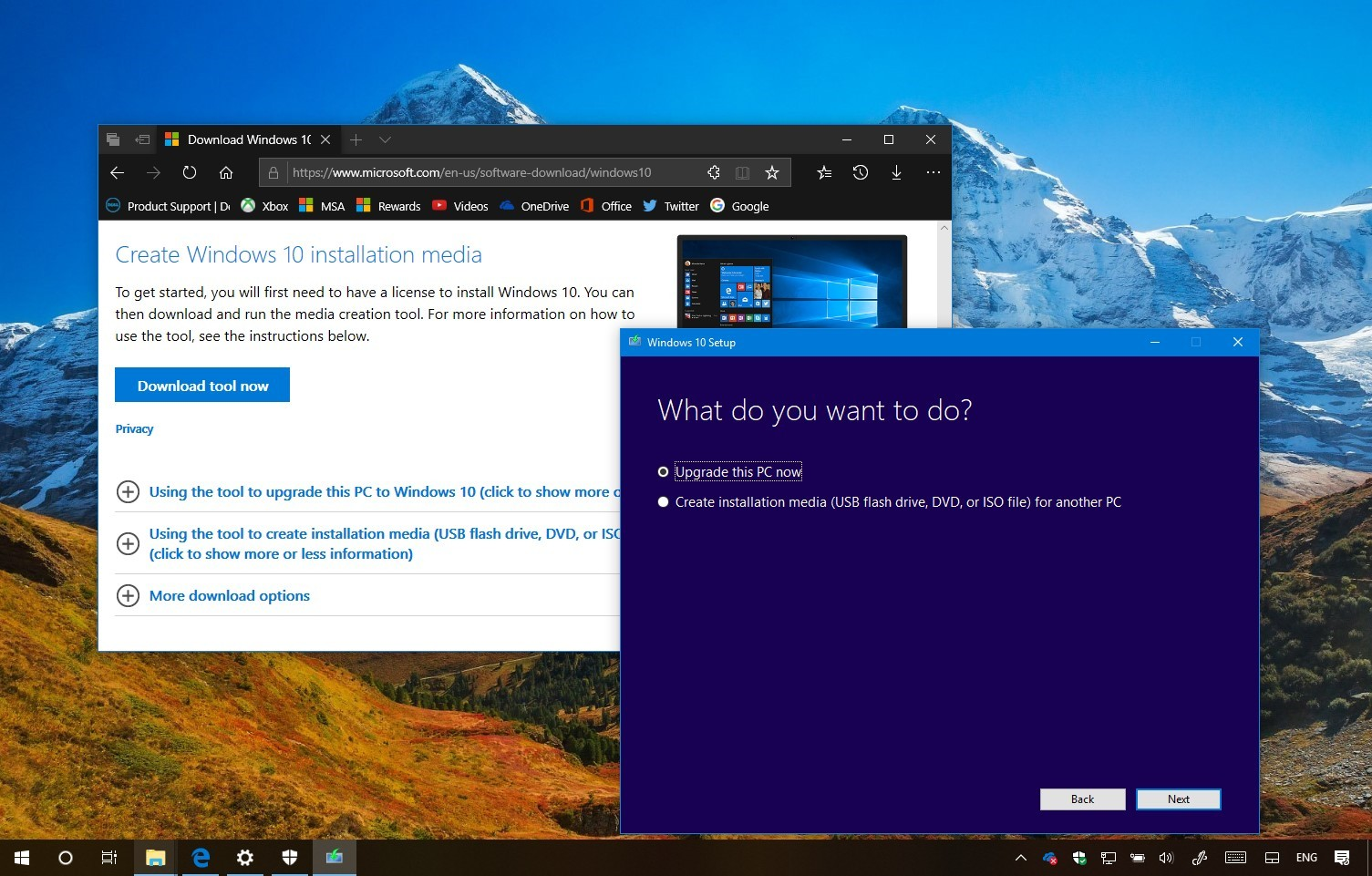 Windows 10 version 1809: Download with Media Creation Tool ...