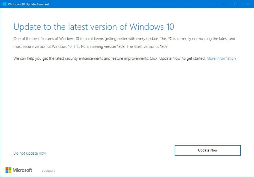 Image result for windows 10 update assistant 1809