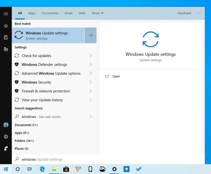 Search refinements for Windows 10 version 1903