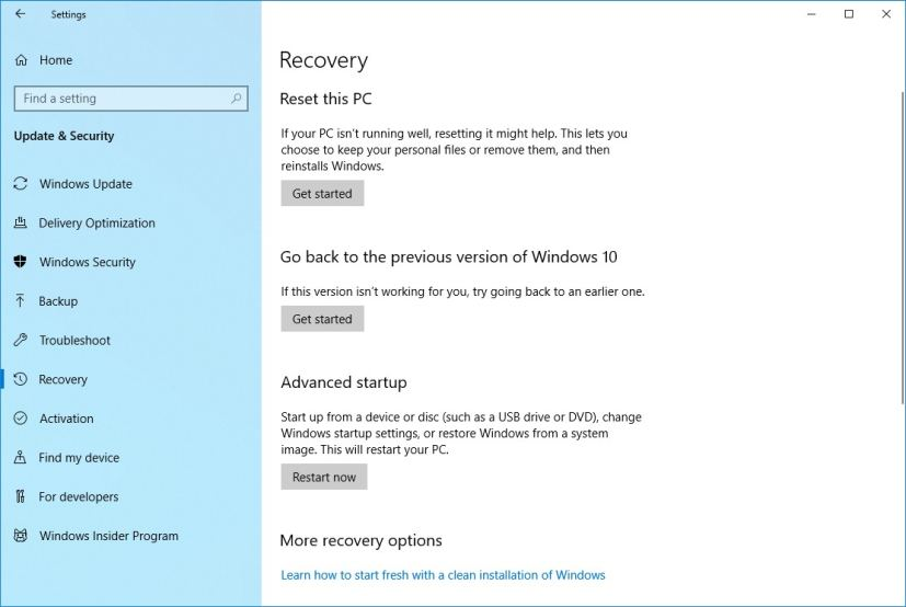 What's the difference between 'Fresh Start' and 'Reset this PC' on