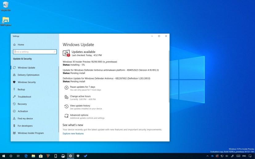 Windows 10 build 18298