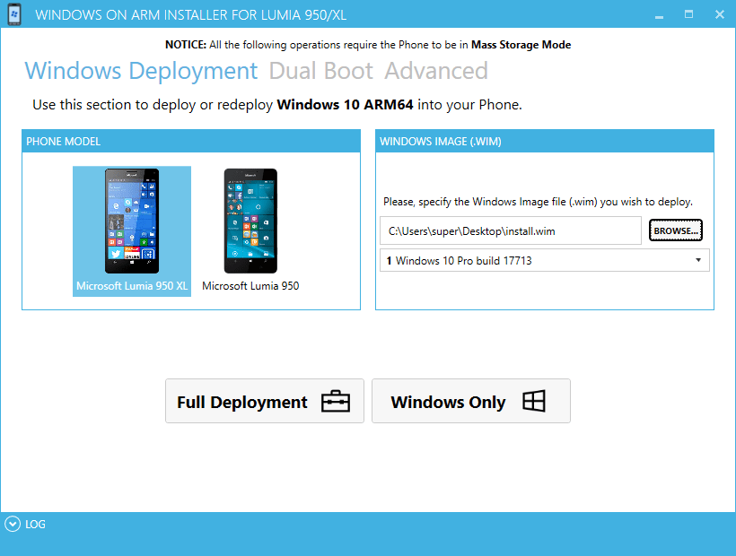 Install Windows 10 on ARM on Lumia 950