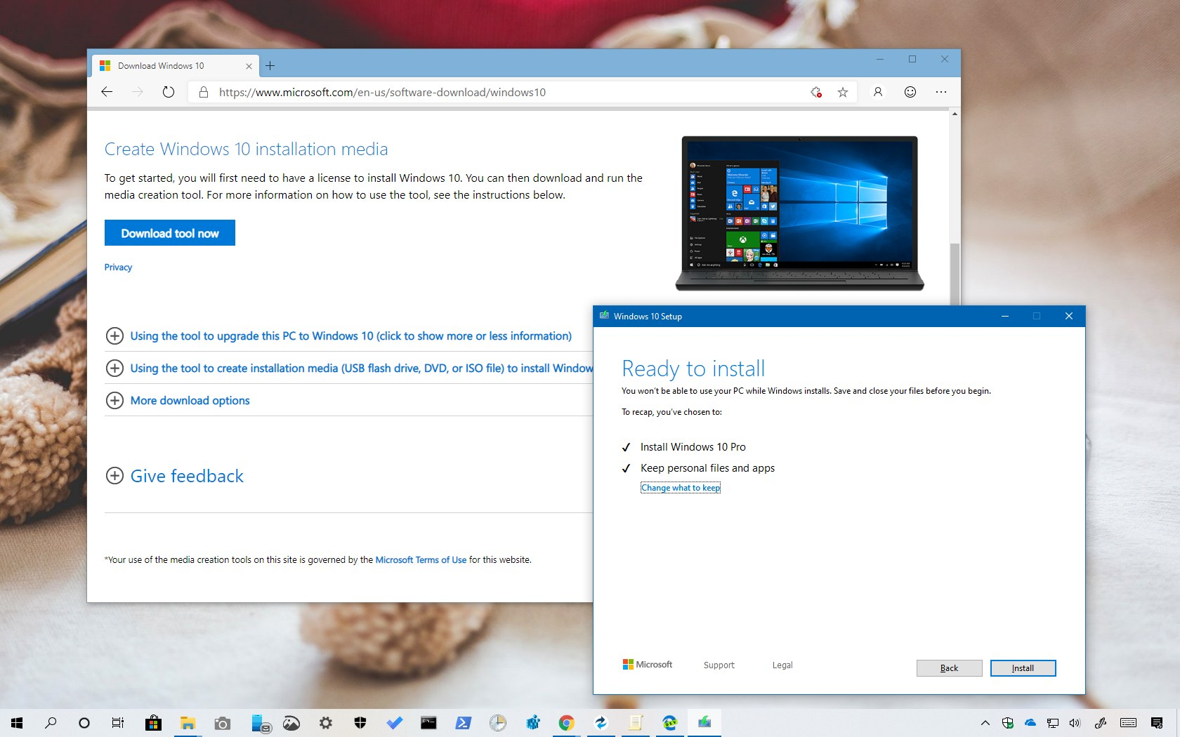 Windows 10 version 1903 download with Media Creation Tool • Pureinfotech