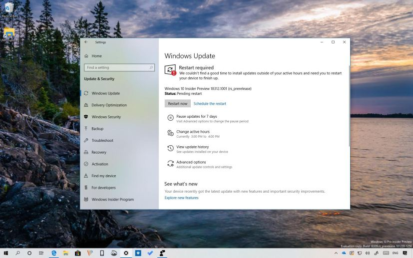 Windows 10 build 18312