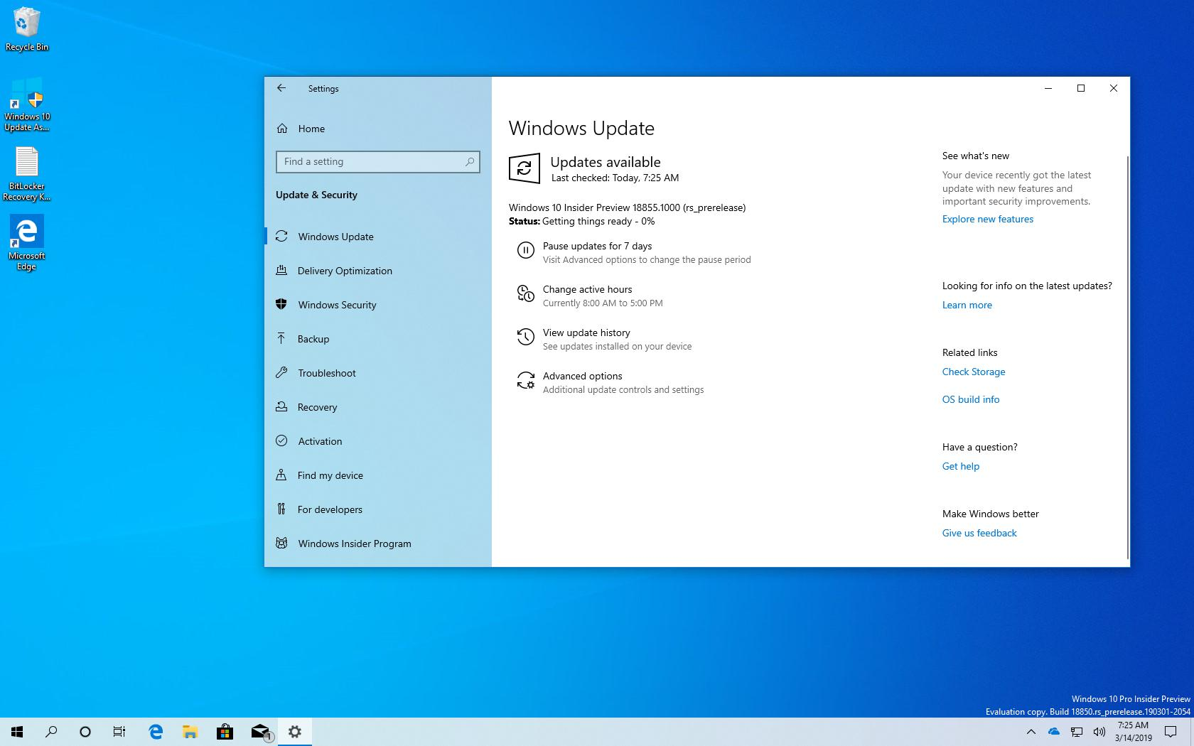 Microsoft Releases Windows 10 20h1 Preview Build 18855