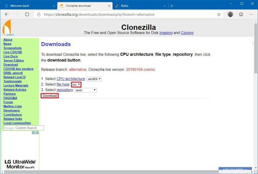 clonezilla download