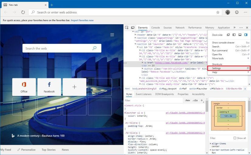 DevTools Panel for Microsoft Edge Chromium