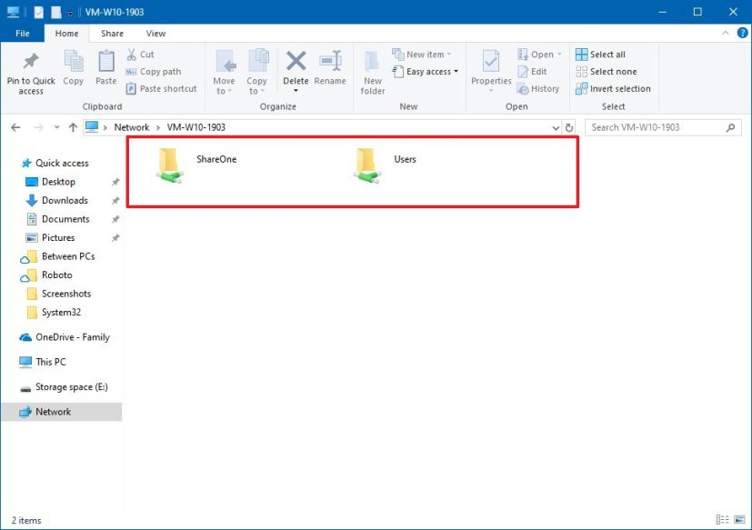 See all shared folders using File Explorer