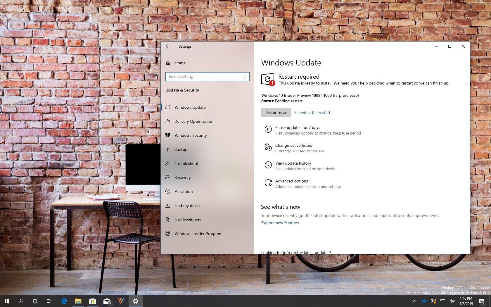 Windows 10 build 18894