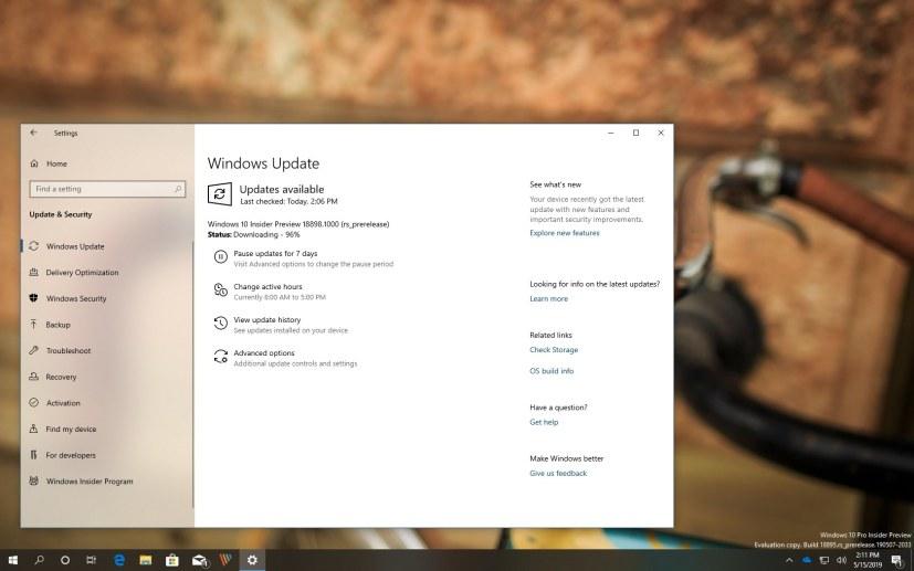Windows 10 build 18898