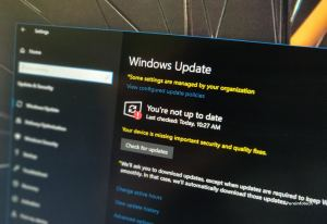 Windows 10 updates settings