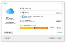 Apple iCloud for Windows 10