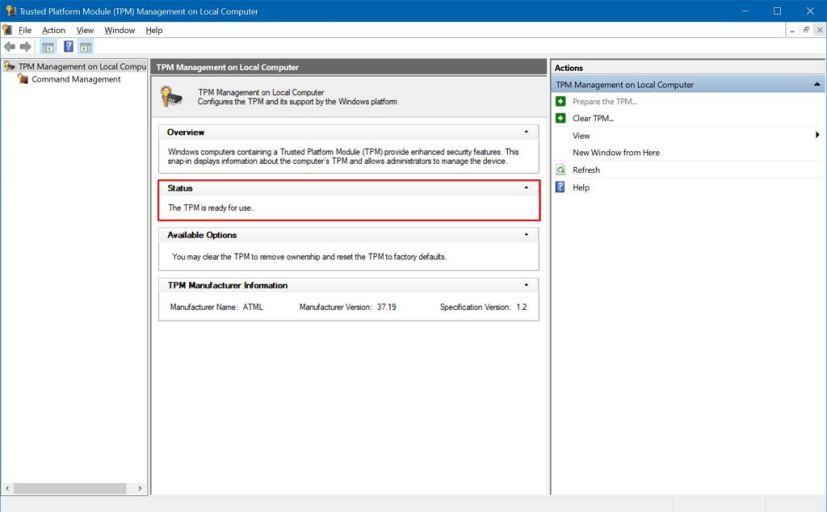 How To Check Tpm Version Windows 10