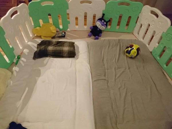 産後クライシス防止!ベビーサークル(ゲート)の中で寝るのも悪くないよ。