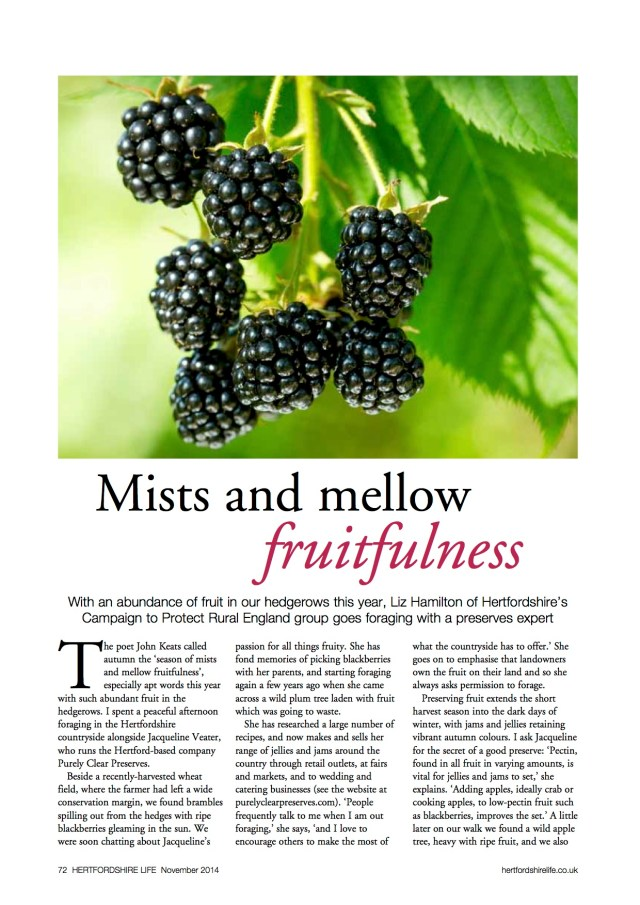 Hertfordshire Life Nov 2014 Mists and mellow fruitfulness