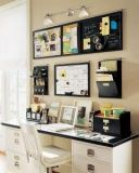 Someday I hope to have an office and this layout would help keep me organized in a small space.
