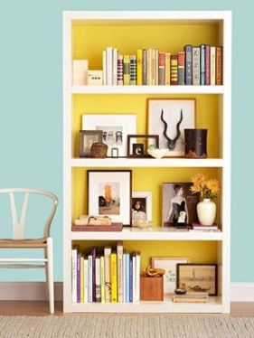 add a little color to you bookshelves.