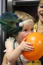 Gretchen eating a balloon
