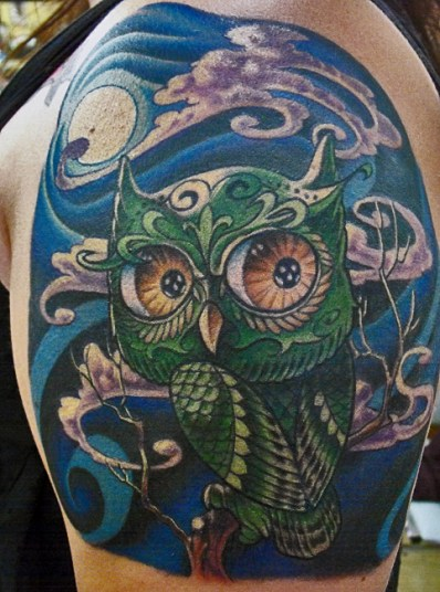 Owl-tattoos-are-associated-with-the-mystery-and-magic-that-accompanies-the-night-and-darkness