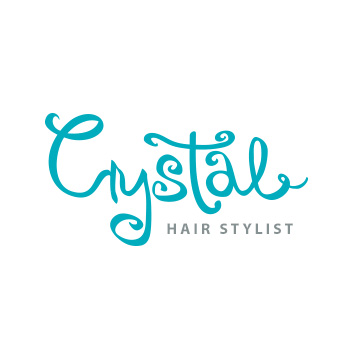 Crystal hair stylist logo by Purely Pacha