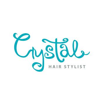 Crystal hair stylist logo by Purely Pacha