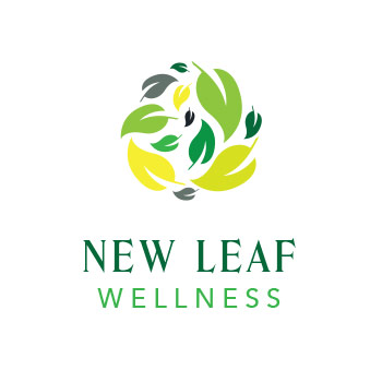 template logo new leaf